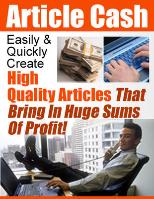 Product picture Your Very Own Article Directory - Article Cash